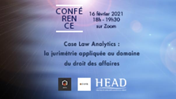 Conférence case law analytics